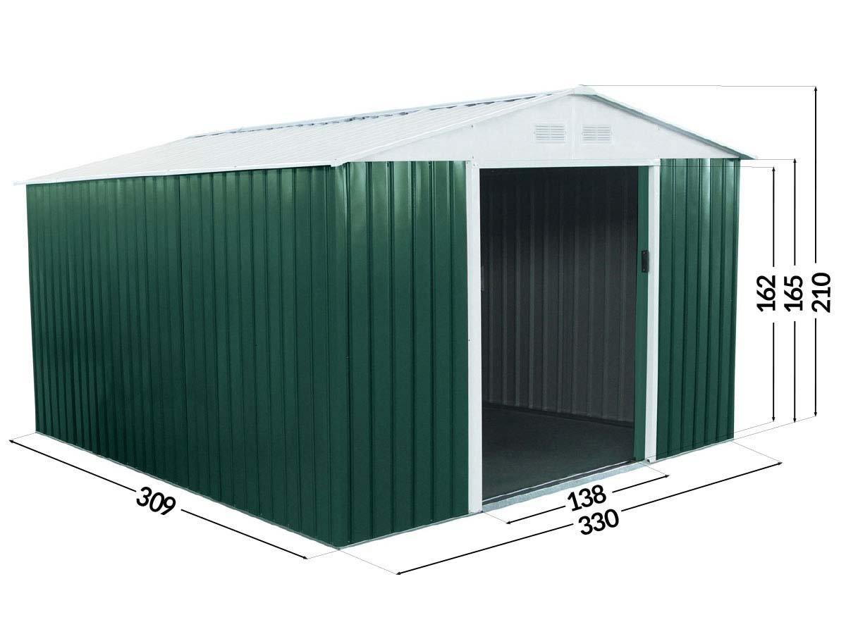 Habitat et Jardin - Abri de jardin métal Rosas - 10,85 m²: Amazon ...