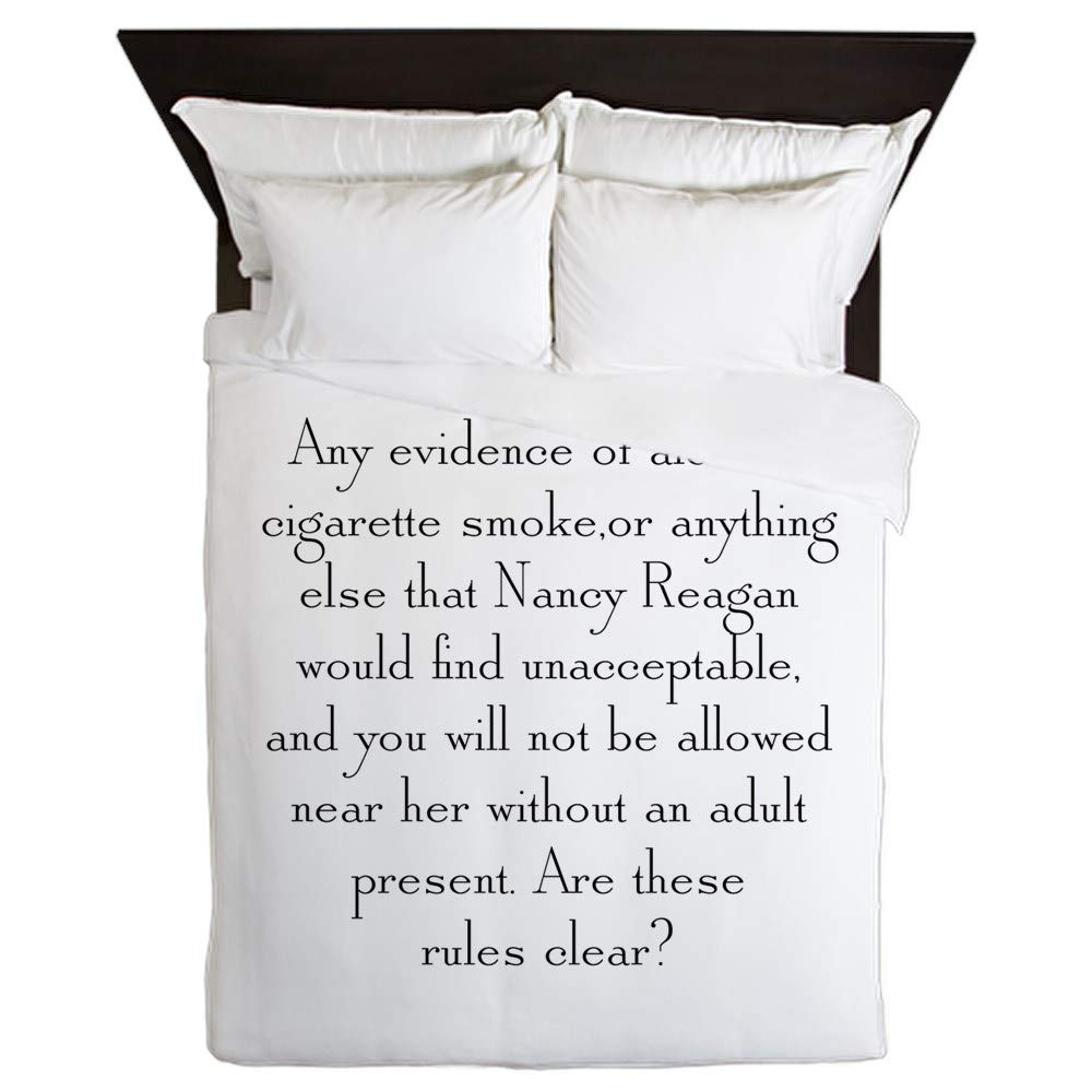 CafePress Any Evidence Queen Duvet Cover, Printed Comforter Cover, Unique Bedding, Microfiber