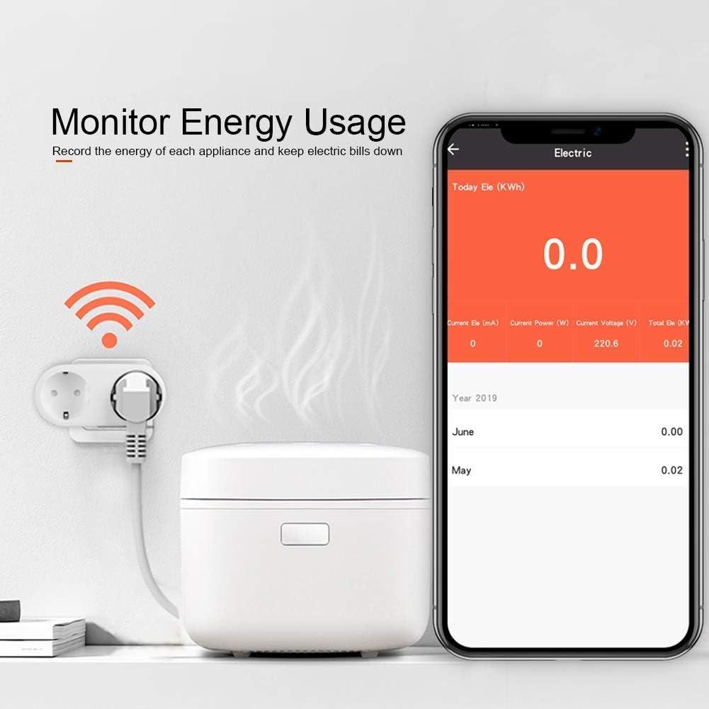 contatore del consumo di elettricit/à 16A Clever|Tech 2 prese timer e programmabile Android e iOS interruttore e spina europea Presa intelligente senza fili 2 in 1 per interni ed esterni