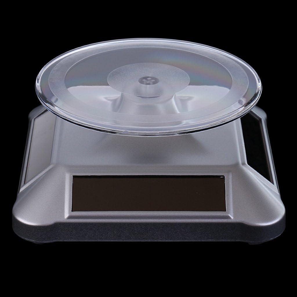 Sharplace Pr/ésentoir Rotatif Plateau Tournant Electrique pour Exposition T/él/éphones Bijoux Montres MP4
