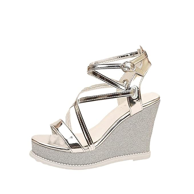 98c7e52341e7 DENER Women Ladies Girls Summer Platform Wedge Sandals