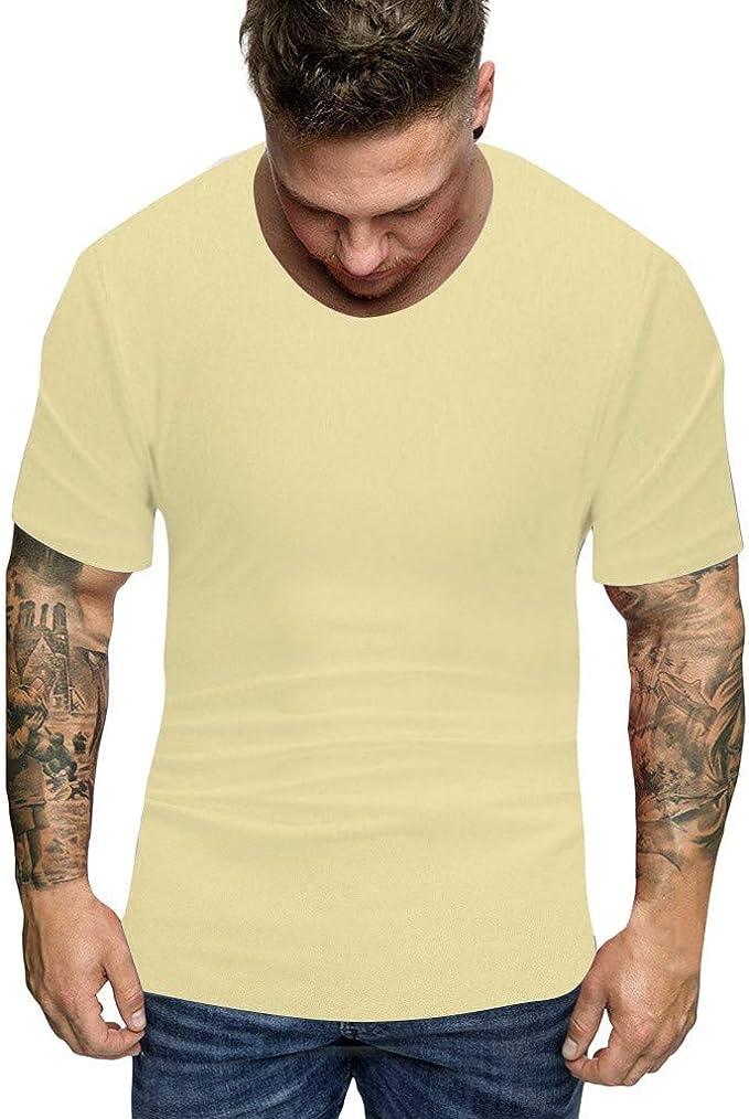 ESAILQ Camiseta de equipación de Manga Corta para Hombre Color Sólido Polo para Hombre Camisa Elástica Casual/Formal para Hombre: Amazon.es: Ropa y accesorios