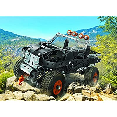 Meccano by Erector, 4x4 Off-Road Truck 25 Model Building Set, 443Piece, Stem Engineering Education Toy for Ages 9 & Up: Toys & Games