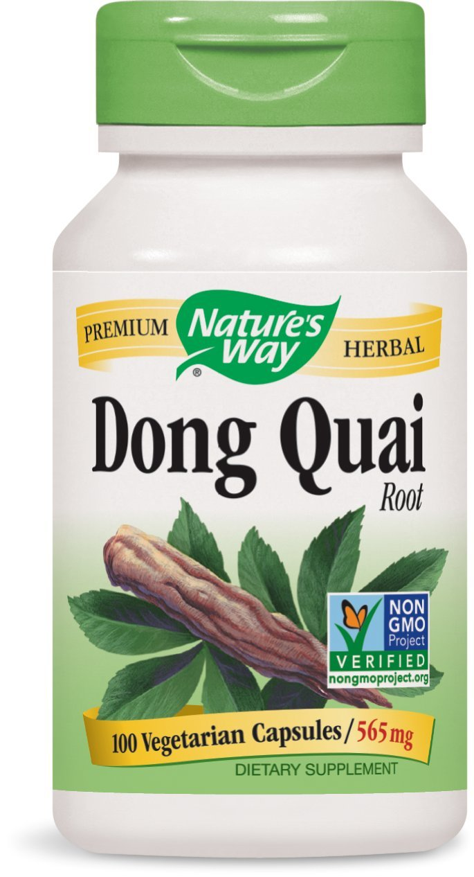 Nature's Way Dong Quai Root, 565mg, 100 Capsules (Pack of 2)