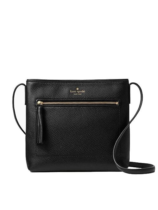 Kate Spade New York Chester Street Dessi Pebbled Leather Shoulder/Crossbody Bag (Black) best crossbody bags