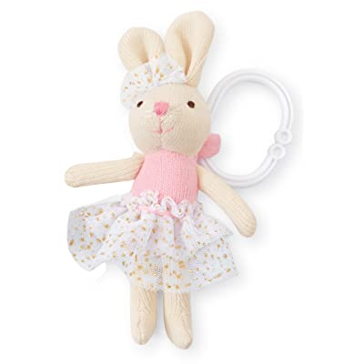 Mud Pie Princess Knit Stroller Buddy, Bunny : Baby