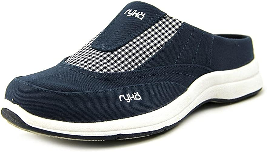 Ryka Largo Gingham Mules Shoes Womens