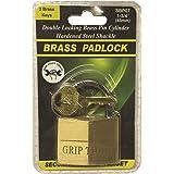 Grip Tight Tools Solid Brass Padlock, SBP07