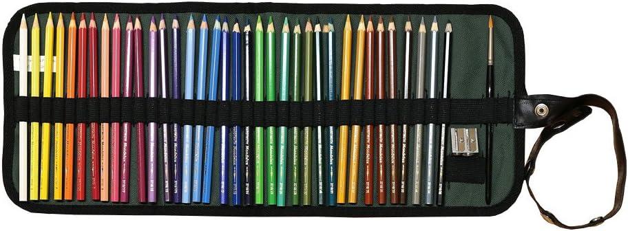 KOH-I-NOOR 36 Aquarellstifte Set mit Pinsel im beigen Stifteg/ürtel Mondeluz Aquarell Buntstifte