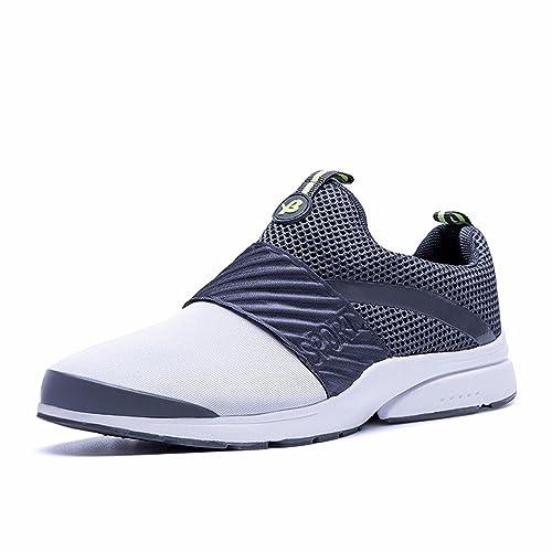 Zapatillas Deportivas Verano Net Transpirable Zapatos De Hombre Versión Coreana De La Tendencia De La Moda Deportiva De La Juventud Cien,Gris,40: Amazon.es: ...