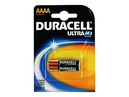 Duracell Specialty, Pilas alcalinas AAAA, Pack 2 baterías