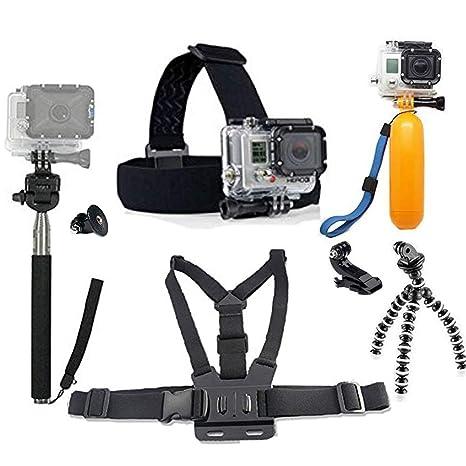 uk availability watch latest discount GoPro Accessoires Pack, Chef & Sangle Thoracique & Trépied & Main Jaune  Grip Flottant Mont Pour GoPro Hero 4 3 2 SJCAM SJ4000 SJ5000 SJ6000 Sport  ...