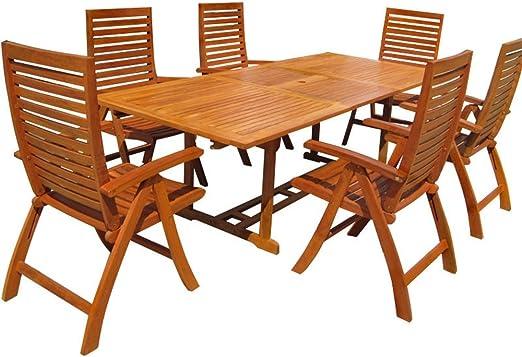 LD Sillas para Madera Muebles de jardín Silla de jardín Mesa Mesa Comedor: Amazon.es: Jardín