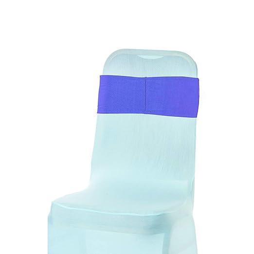 WedDecor - Cintas elásticas para Silla, 15 x 70 cm, Color Azul ...