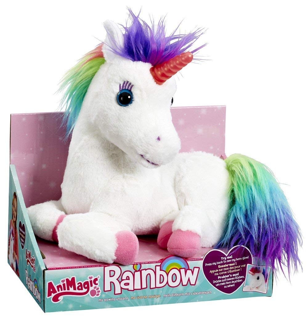 AniMagic Rainbow - My Glowing Unicorn, a Soft Unicorn Plush Toy with Glowing Horn and Unicorn Sounds 4