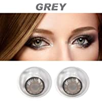 Soft Eye 1 Pair of Monthly Color Contact Lens GREY Zero Power/Without Power (Lens Only)