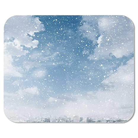 Amazon com : Winter Personalized Mouse Pad, Snow Falling