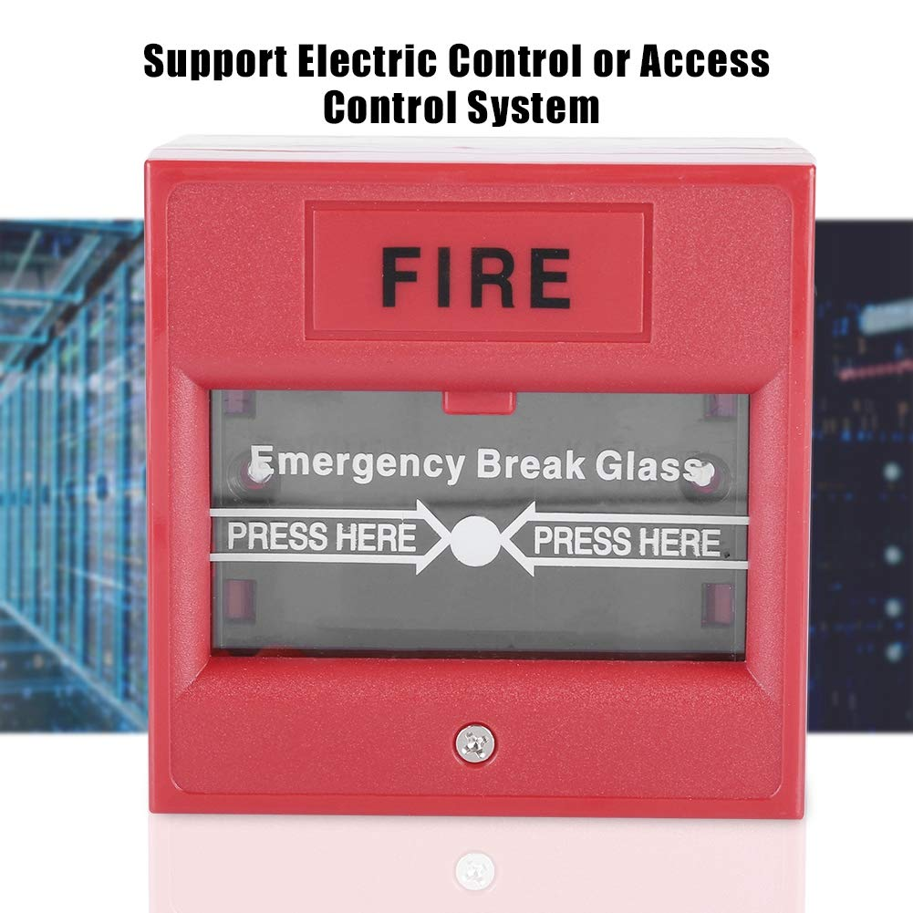 Door Emergency Button,Emergency Exit Fire Alarm Button Release Security Glass Break Alarm Switch for Home Security