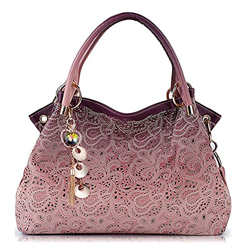 Handbags Tote,Leather Handbags,Fashion Women Handbag Shoulder Bag Purse Ladies Handle Bags (Pink)