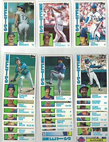 (New York Mets / Complete 1984 Topps Mets Baseball Team Set with Darryl Strawberry Rookie Card)
