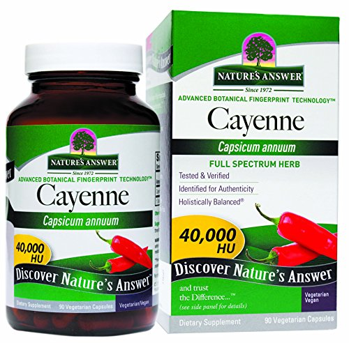 Nature's Answer Cayenne Pepper Vegetarian Capsules, (Cayenne Pepper Fruit)