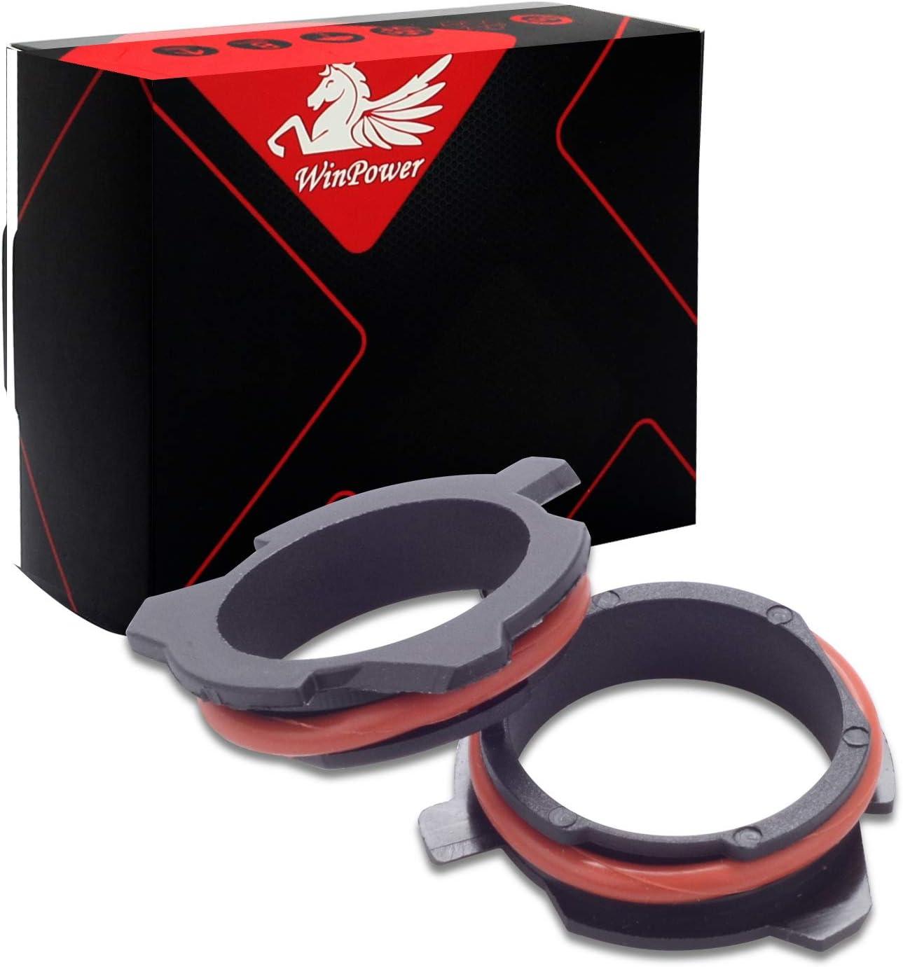 WinPower H7 LED-Lampenfu/ßclips Adapterhalterhalterung LED-Lampenfassung Konvertierungszubeh/ör f/ür E39 E60 E61 F10 F11 F07 F85 G30 G31 G38 usw 2 Teilig