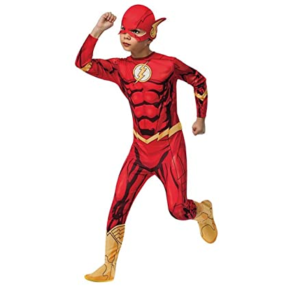 Amakando Traje de niño Flash Disfraz de Flash L 140 cm años ...