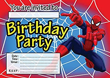 Image Unavailable Not Available For Colour SPIDERMAN CHILDRENS BIRTHDAY PARTY