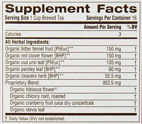 Traditional Medicinals Organic Weightless Cranberry Women's Tea, 16 Tea Bags (Pack of 6)