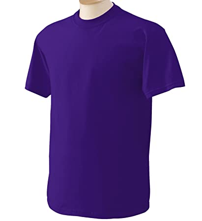 Gildan Men's Heavy Cotton T-Shirt - 5000 - Purple - 3X-Large