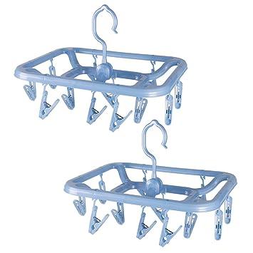 Amazon.com: Annaklin - Perchas de plástico con clips de ...