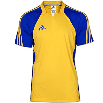adidas Climacool Camiseta de Equipo de Colour Amarillo-Azul Jersey Amarillo Talla:XL: Amazon.es: Deportes y aire libre