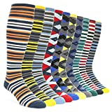 Statement Sockwear Men's Over-the-calf Dress Socks (10 Pair Collection)