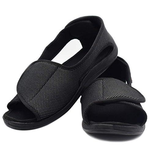 25db64019bd75 DS-Slippers Women's Diabetic Shoes, Open Toe Extra Wide Width ...