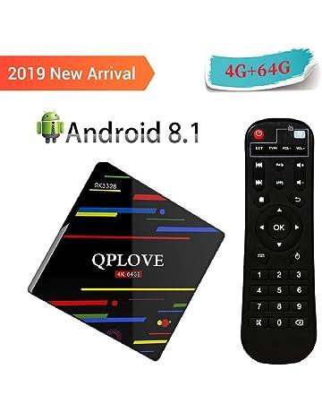 Android 8.1 QPLOVE 4K TV Box con RK3328 Quad-Core 64bits CPU, 4GB RAM