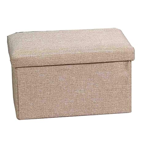 Pleasant Dppan Cube Storage Ottoman Stool Bench Linen Fabric Andrewgaddart Wooden Chair Designs For Living Room Andrewgaddartcom