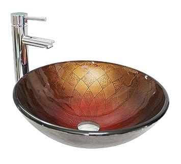 Gehärtetes Glas Waschbecken im Badezimmer Runde Kleines Badezimmer ...