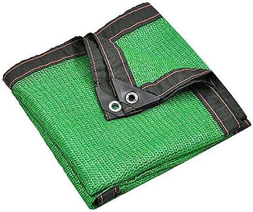 SZ JIAOJIAO Tela de la Cortina Engrosamiento Encriptación 80% Tasa de sombreado con Ojales para jardín Pergola Patio al Aire Libre (Color: Verde, tamaño: 3x3 m),2 * 2m: Amazon.es: Hogar