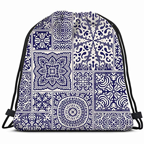 Abstract Patchwork Dark Batik Drawstring Backpack Sports Gym Bag For Women Men Children Large Size With Zipper And Water Bottle Mesh Pockets