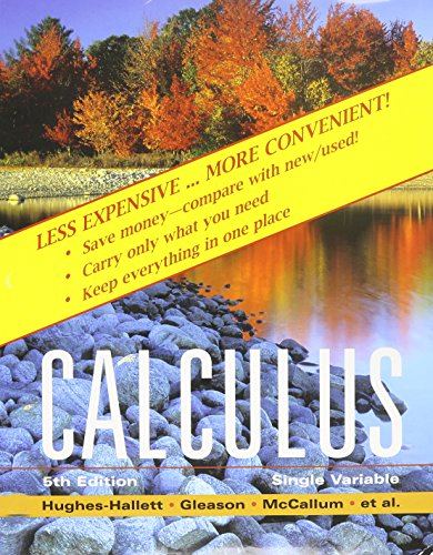 Calculus: Single Variable 5th Edition Binder Ready Version with WebAssign 2 Semester Set