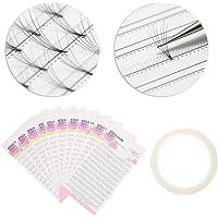 Wimperverlenging geheugenkaart, valse wimper ventilator papieren kaart met dubbelzijdig plakband, make-up organizer…