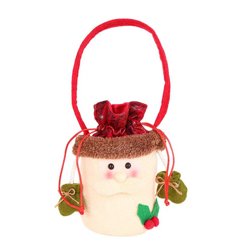 Bags Festive Plus Totes Bags Present Bag Santa Sack for Wrapping Holiday Party Supplies(A)