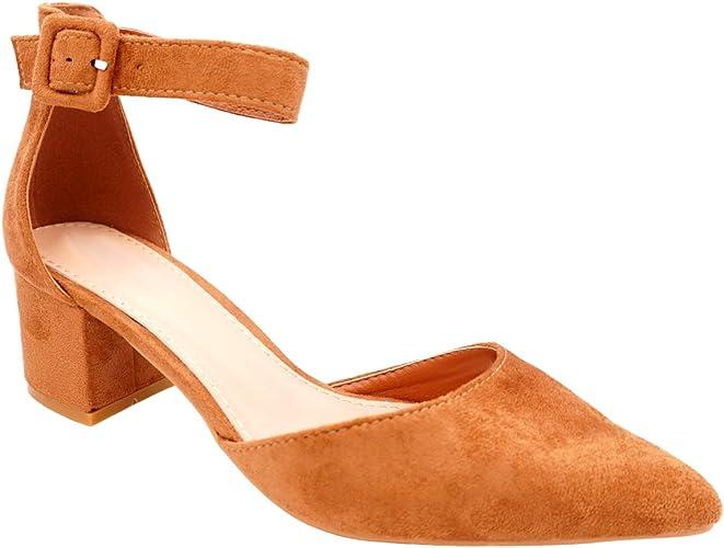 Cucu Fashion Black Block Heel Sandal