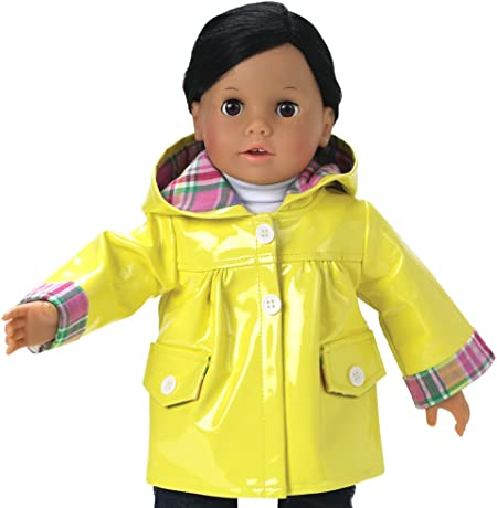 """Fits American Girl and most other 18/"""" dolls 3pc Raincoat Set."""