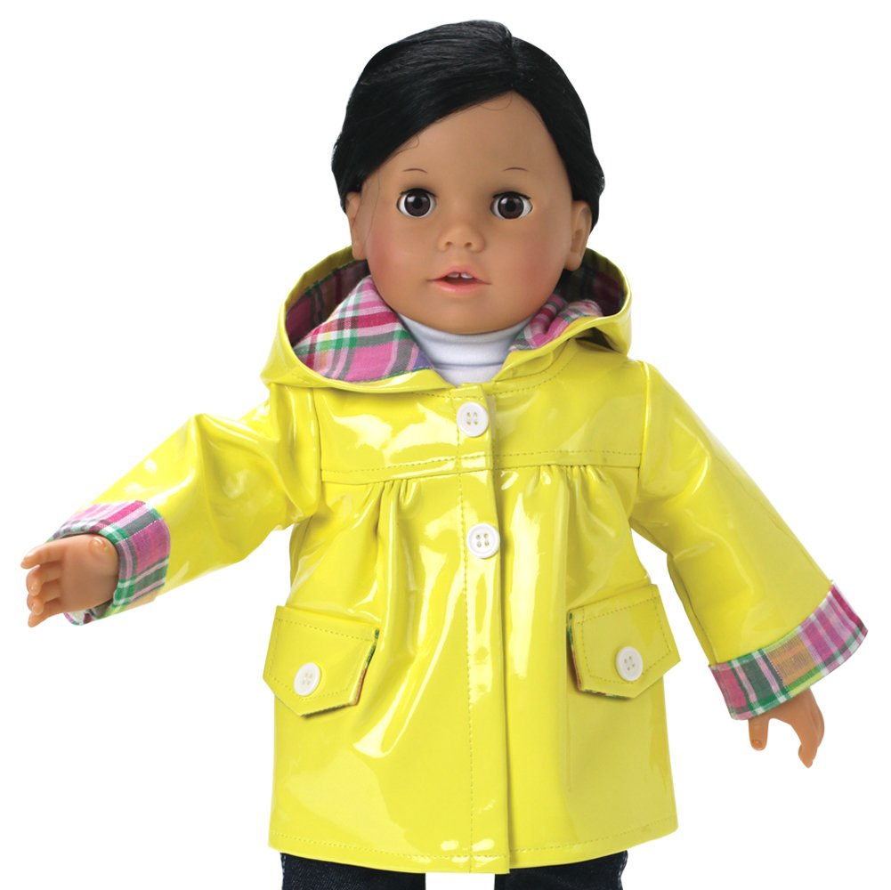 """3pc Raincoat Set. Fits American Girl and most other 18/"""" dolls"""