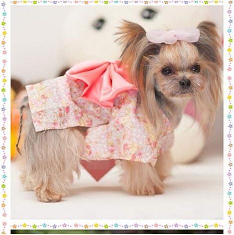 ML Ropa para Perros Ropa para Gatos Vestido Floral Artículos para Perros, s: Amazon.es: Deportes y aire libre