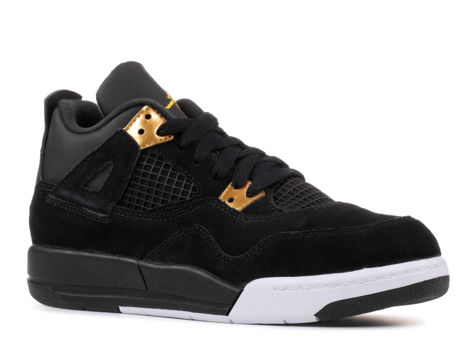 52f2abce2174 Galleon - Jordan 4 Retro BP Little Kids Shoes 3 M US Black Metallic Gold White  308499-032