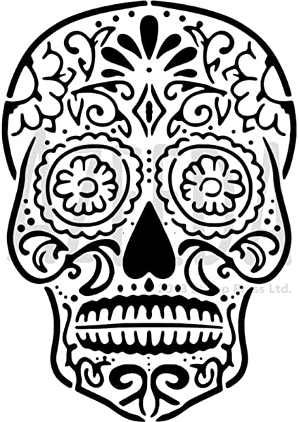 Sugar Skull Drawing Template from images-na.ssl-images-amazon.com