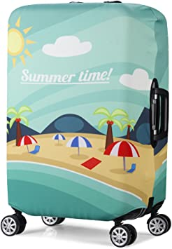 3D Always Be Mine Print Luggage Protector Travel Luggage Cover Trolley Case Protective Cover Fits 18-32 Inch