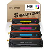 S SMARTOMNI 045H 045 Compatible Toner Cartridges Replacement for Canon 045H 045 H CRG-045H for Canon Color ImageCLASS MF634Cdw MF632Cdw LBP612Cdw LBP611 MF633Cdw LBP613Cdw Printer, 4 Packs (KCMY)